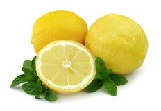 Zitrone mit Minze Lizenzfreie Stockbilder
