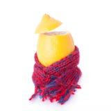 Zitrone mit Schal stockfotos