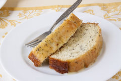 Zitrone Poppy Seed Bread Stockfoto