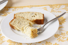 Zitrone Poppy Seed Bread Stockbild