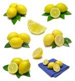 Zitrone-Probeflasche Lizenzfreies Stockbild