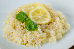 Zitrone Risotto Stockfoto