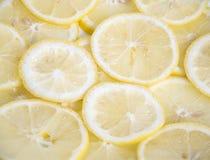 Zitrone schneidet Nahaufnahme Stockbilder