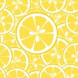 Zitrone schneidet nahtlosen Hintergrund Lizenzfreies Stockfoto
