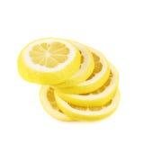 Zitrone schneidet Zusammensetzung Stockbilder