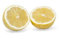 Zitrone schnitt auf zwei Teile Lizenzfreies Stockbild