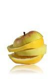Zitrone und Apfel Lizenzfreies Stockbild