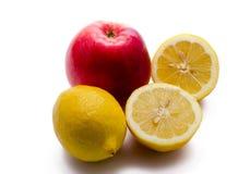 Zitrone und Apfel Stockbilder