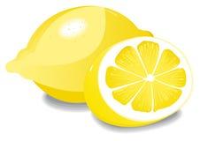 Zitrone und halbe Zitrone Lizenzfreie Stockfotografie