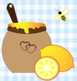 Zitrone und Honig Lizenzfreie Stockfotografie