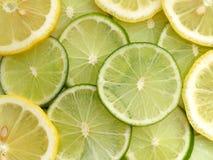 Zitrone und Kalk stockfotos