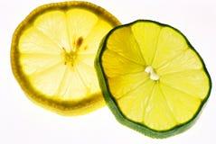 Zitrone und Kalk Stockfotografie