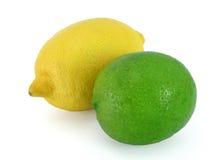 Zitrone und Kalk lizenzfreie stockfotografie