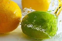 Zitrone und Kalk. Lizenzfreie Stockbilder