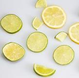 Zitrone und Kalk lizenzfreie stockbilder