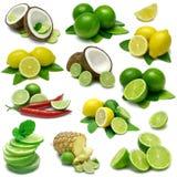 Zitrone und Kalk Combos Stockbild