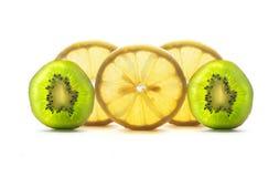 Zitrone und Kiwi Stockfoto