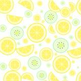 Zitrone und Kiwi Stockbild