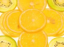 Zitrone- und Kiwifrucht Lizenzfreie Stockfotos
