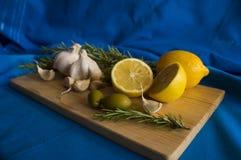 Zitrone und Knoblauch Lizenzfreie Stockfotos