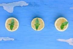 Zitrone und Minze Stockbilder