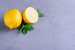 Zitrone und Minze Lizenzfreie Stockfotos