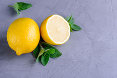 Zitrone und Minze Lizenzfreies Stockfoto