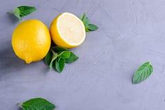 Zitrone und Minze Lizenzfreie Stockbilder