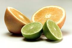 Zitrone und Orange Stockbild