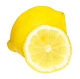 Zitrone und seine Hälfte Lizenzfreie Stockfotografie