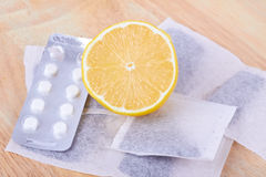 Zitrone und Tee Stockfotografie