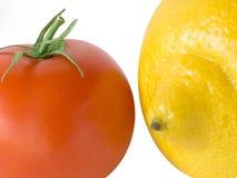 Zitrone und Tomate Stockfoto