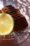 Zitrone und verdauungsfördernde Biskuite Stockfotos