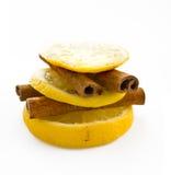 Zitrone und Zimt Lizenzfreies Stockfoto