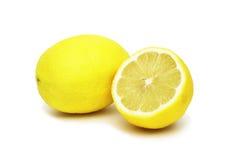 Zitrone und Zitrone halb Stockfotos