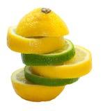 Zitronekalk-Mischfrucht Lizenzfreie Stockfotos