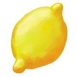 Zitronen-Aquarell-Illustration Stockbild