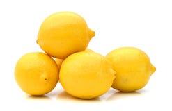 Zitronen auf einem weißen Studiohintergrund stockbilder