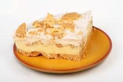 Zitronen-Eis-Kasten-Torte Lizenzfreie Stockfotos