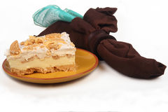 Zitronen-Eis-Kasten-Torte Lizenzfreies Stockbild