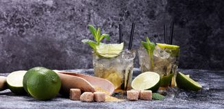 Zitronen-Frucht-Kalk Caipirinha von Brasilien lizenzfreies stockfoto