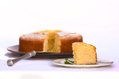 Zitronen-Kuchen Lizenzfreies Stockfoto