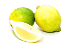 Zitronen mit Nelke Lizenzfreie Stockfotos
