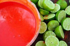 Zitronen nach dem preparinng achiote tikinchick Maya Lizenzfreie Stockfotografie