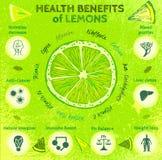 Zitronen-Nutzen für die Gesundheit Lizenzfreie Stockfotografie