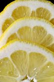 Zitronen-Scheibenmakro Lizenzfreie Stockfotos