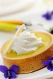Zitronen-Törtchen-Nachtisch Lizenzfreie Stockfotos