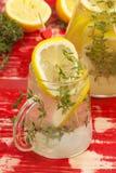 Zitronen-Thymian-Limonade Lizenzfreie Stockbilder