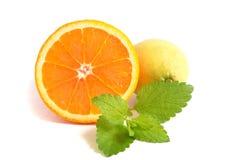 Zitronen und Kalk Stockbild