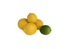 Zitronen und Kalk stockbilder